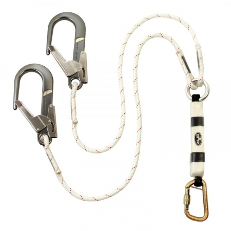 Twin Shock Absorbing Rope Lanyard