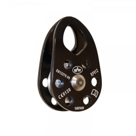 Black Single Mini Pulley